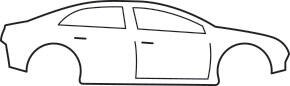 scheme of car body of a coupe from the side