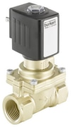 Servo-assisted 2/2 way diaphragm valve